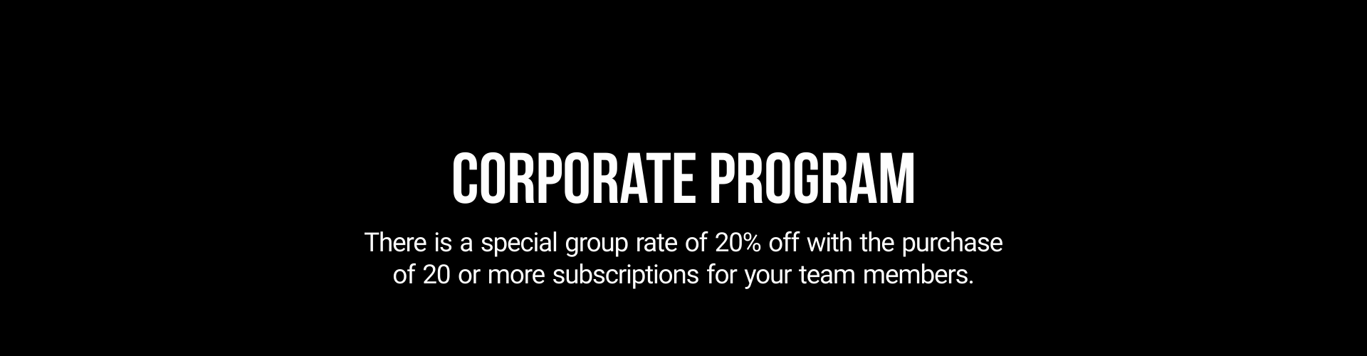Graphic about discounts for corporate programs
