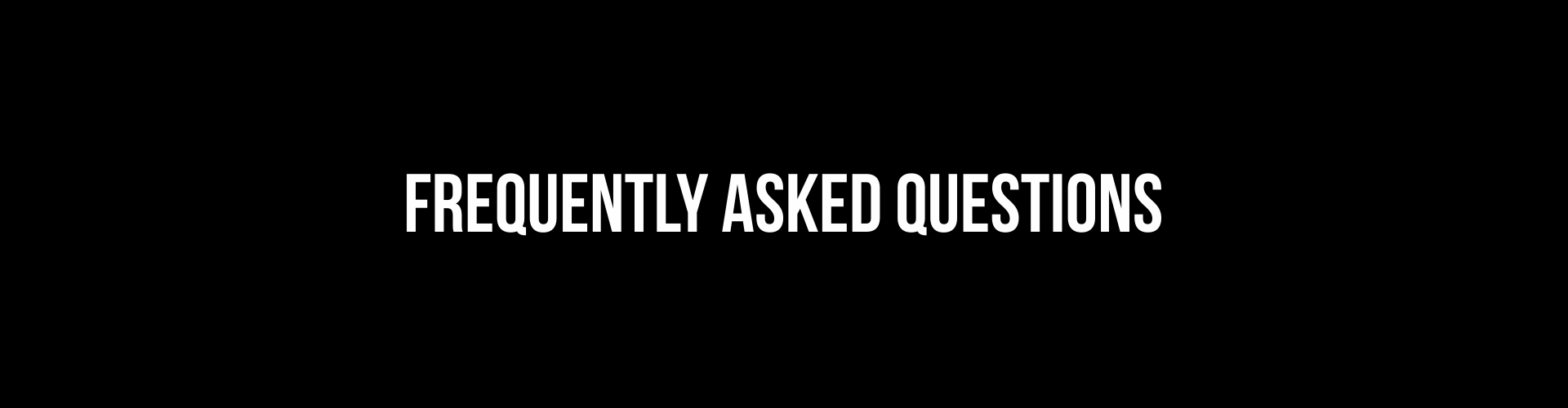 Graphic entitled Frequently Asked Questions